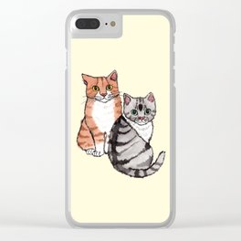 Two Cats Clear iPhone Case