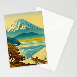Japanese Woodblock Print Vintage Asian Art Colorful woodblock prints Mount Fuji Stationery Cards
