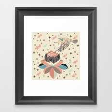 Good Afternoon Lotus Framed Art Print