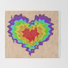 Colors heart Throw Blanket