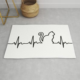 Cat Heartbeat Rug