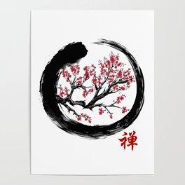 Japanese ENSO ZEN Buddhist SHIRT Poster