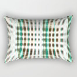 Dots Modern Geometric Green Minimalistic Pattern Rectangular Pillow