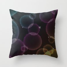 Tech Bubbles Throw Pillow