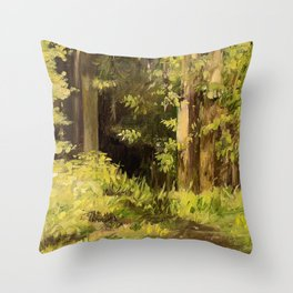 Woodland Landscape Nature Art Throw Pillow