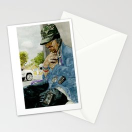 Homeless Series 4 ~ Sunset Blvd., Los Angeles, CA. Stationery Cards