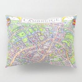 CAMBRIDGE University map ENGLAND Pillow Sham