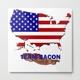 TEAM BACON Metal Print