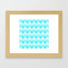 Aqua Honeycomb Framed Art Print