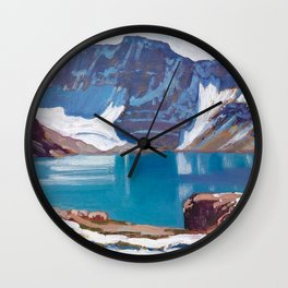 Lake McArthur by James Edward Hervey MacDonald - Canada, Canadian Oil Painting - Group of Seven Wall Clock