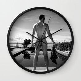 Swim Naked Wall Clock