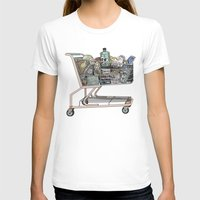 shopping T-shirts featuring The Shopping by Mitzi Akaha