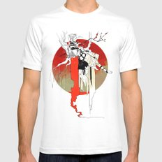 Tithe White MEDIUM Mens Fitted Tee