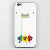 knitting iPhone & iPod Skins featuring Knitting sheep by Popmarleo