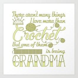 Crochet Grandma Art Print