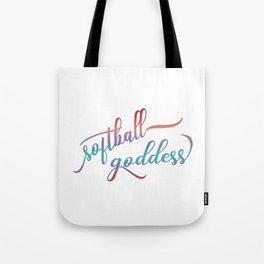 Softball Goddess Summer Ombre Tote Bag