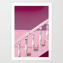 Pink Stairway Art Print