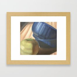Apple and Bowl Framed Art Print