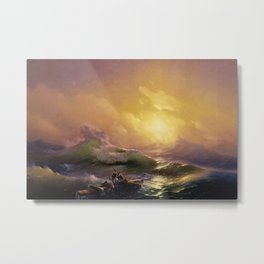 The Ninth Wave Landscape Masterpiece by Ivan Aivazovsky Metal Print