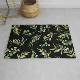 Eucalyptus and Olive Pattern  Rug