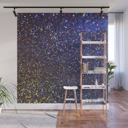 Blue and Gold Sparkles Wall Mural