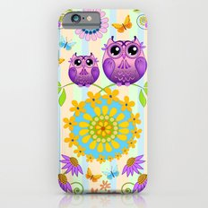 Cute Owls, Paisley shapes and Flowers Slim Case iPhone 6