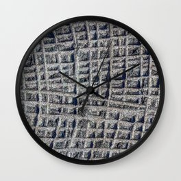 Sawn in Blue Granite Wall Wall Clock