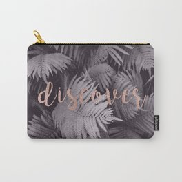 Rose gold discover - sepia fern Carry-All Pouch
