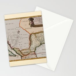Map Of America 1679 Stationery Cards