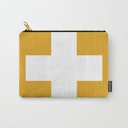 Swiss Cross Mustard Carry-All Pouch