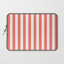 Living Coral Small Even Stripes Laptop Sleeve
