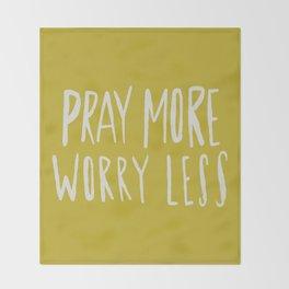 Pray More x Mustard Throw Blanket