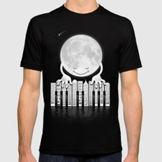 City Tunes SMALL Mens Fitted Tee Black