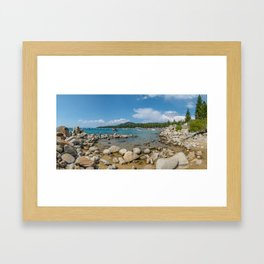 Lake Tahoe Beach Framed Art Print