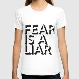 Fear Is A Liar Black T-shirt