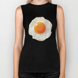 Fried Egg Polygon Art Biker Tank