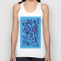 carousel Tank Tops featuring Carousel by Art by Mel