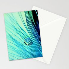 Feather And Water Blue Stationery Cards