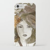 medusa iPhone & iPod Cases featuring Medusa by Marine Loup