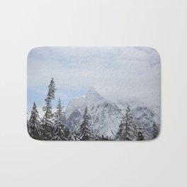 Man and Mountains Bath Mat