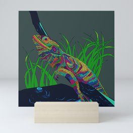 Colorful Lizard Mini Art Print