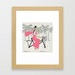 Saree Girl  Framed Art Print