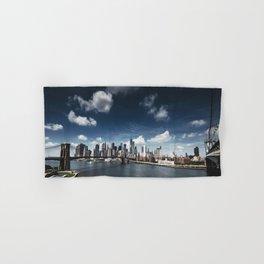 nyc skyline panoramic view Hand & Bath Towel