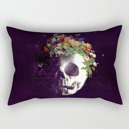Skull with flowers no1 Rectangular Pillow