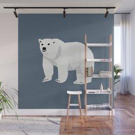 Polar Bear cute animals print for kids room decor boys and girls nursery Wall Mural