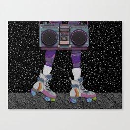 moon skating Canvas Print
