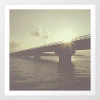 bridge Art Prints featuring bridge by dv7600