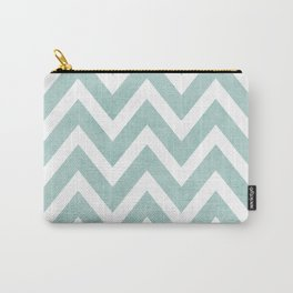 robins egg blue chevron Carry-All Pouch