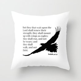 Mount Up as Eagles (2) Throw Pillow