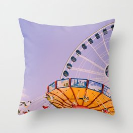 Swing Ride Sunset (Color) Throw Pillow